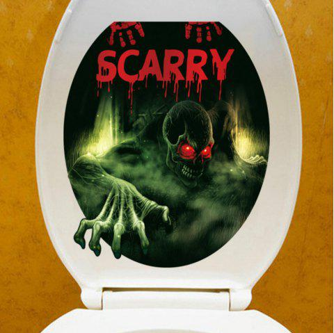 41% OFF] 2019 3D View Bathroom Toilet Horror Stickers Poster
