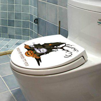 Toilet Seat Wall Sticker Bathroom WC Black Personality Stickers - YELLOW/BLACK