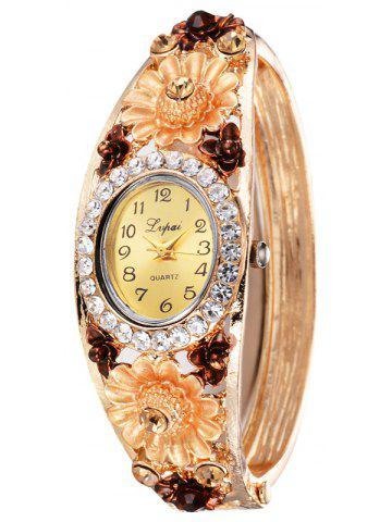 deal watches bangle ladies shop alert accent worthington tone crystal gold rose