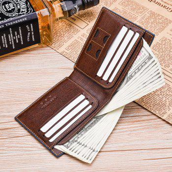 Men's Wallet Short Smooth Pattern Europe and The United States New Soft Multi-Card Cross-Section Ticket Holder - COFFEE