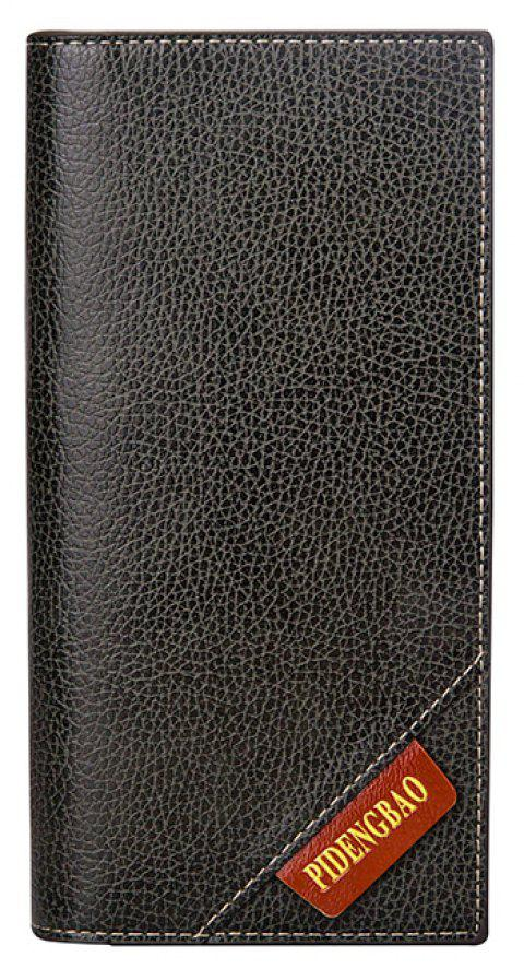New Men's Long Wallet Fashion Casual Card Package - GRAY