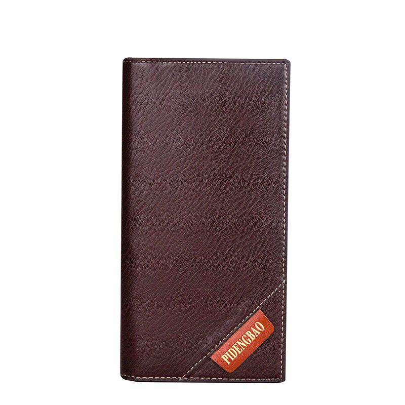 New Men's Long Wallet Fashion Casual Card Package - BROWN