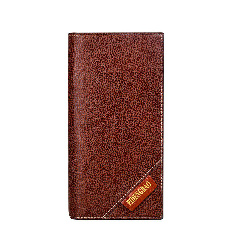 New Men's Long Wallet Fashion Casual Card Package - COFFEE