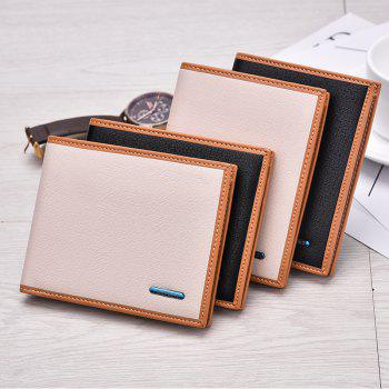 New Men's Short Wallet High-End Fashion Cross Section Multi-card Package - OFF WHITE