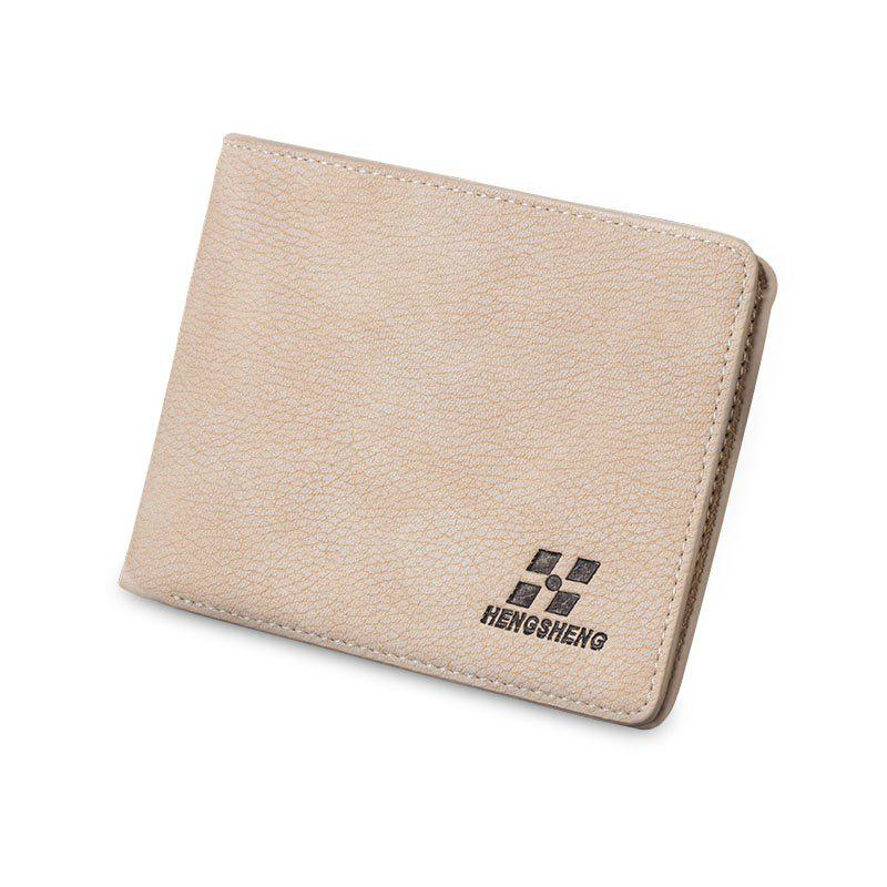 Short Wallet Male Slim Cross-section Men's Multi-card Student Fashion - OFF WHITE