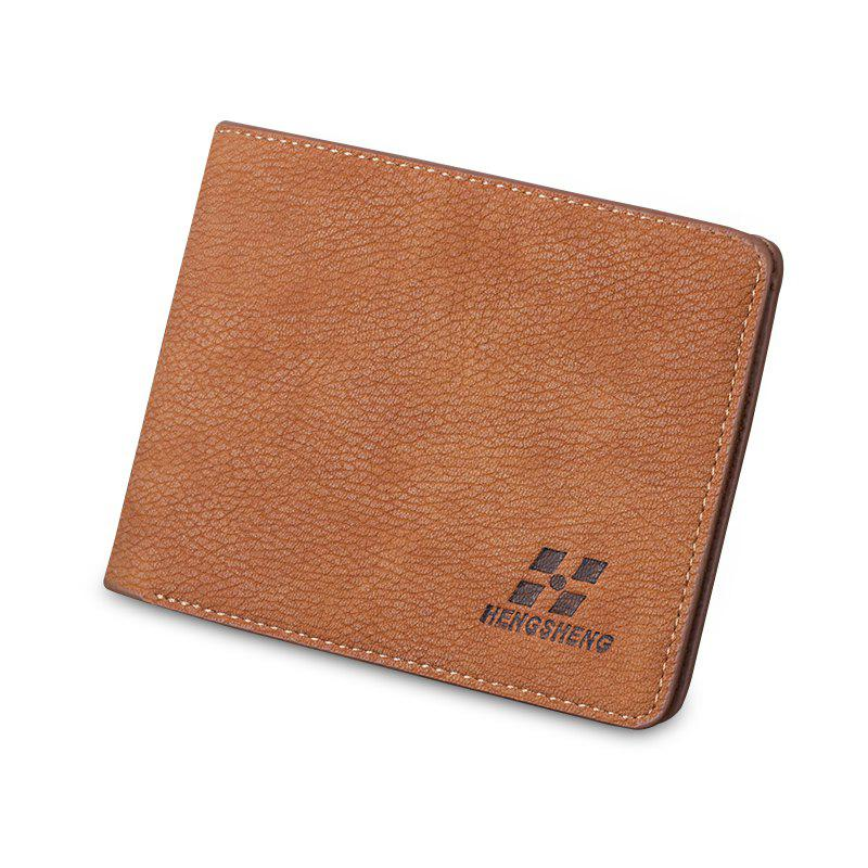 Short Wallet Male Slim Cross-section Men's Multi-card Student Fashion - CLEMENTINE
