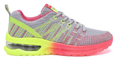 New Fly Weaving Leisure Sports Running Shoes - GRAY 37