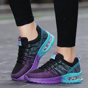 New Fly Weaving Leisure Sports Running Shoes - PURPLE 36