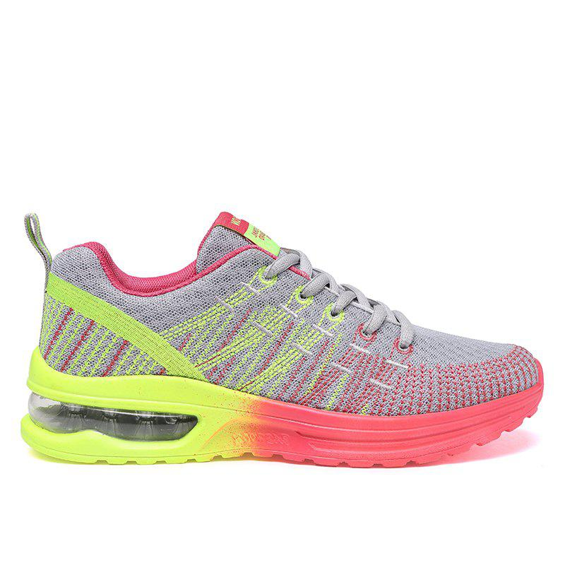 New Fly Weaving Leisure Sports Running Shoes - GRAY 38