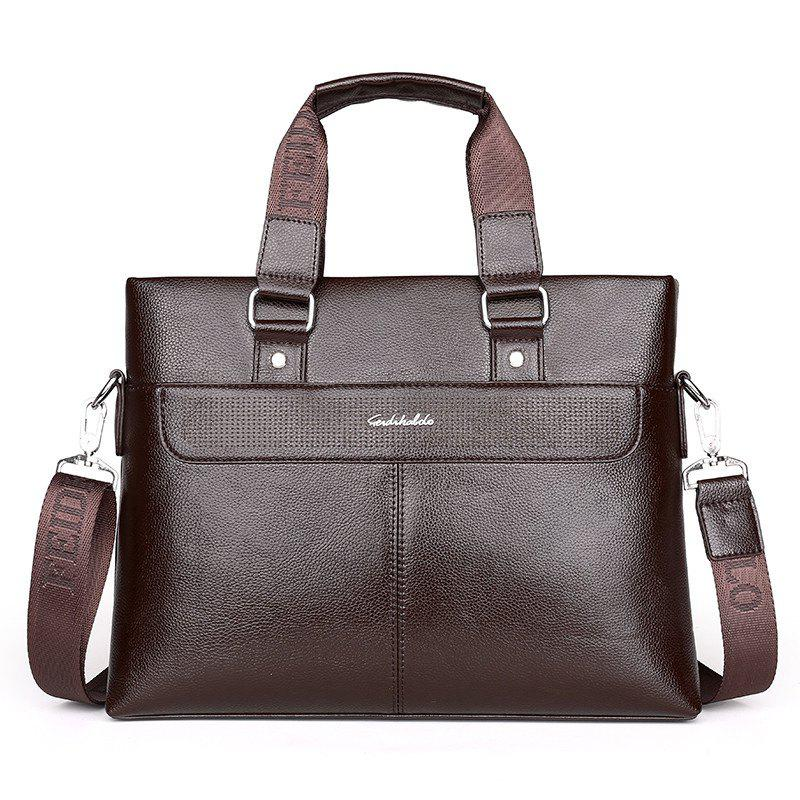 Men's New Casual Messenger Bag - BROWN