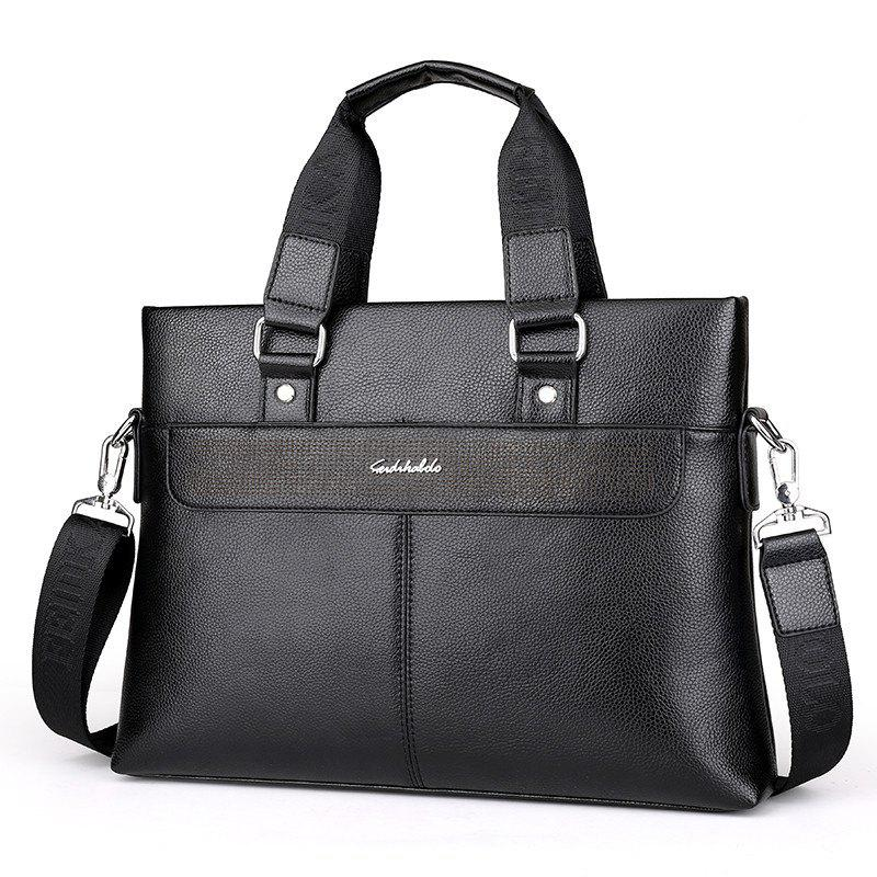 Men's New Casual Messenger Bag - BLACK