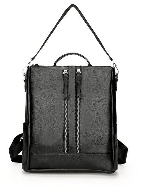 New Men's Casual Large Capacity Backpack - BLACK