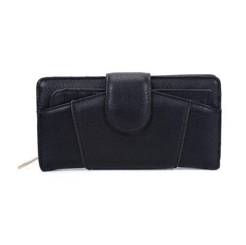 Women's Wallet Graceful Sweety Long Pattern Ladylike Stylish Bag - BLACK