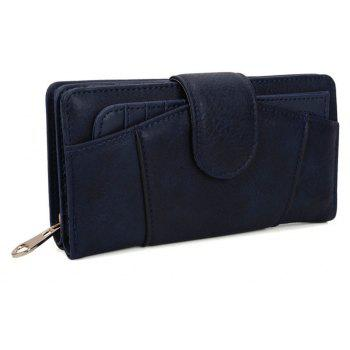 Women's Wallet Graceful Sweety Long Pattern Ladylike Stylish Bag - BLUE