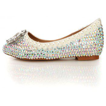 2018 New Colorful Diamond Flat Comfortable Shoes - COLOR 41