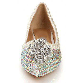 2018 New Colorful Diamond Flat Comfortable Shoes - COLOR 37