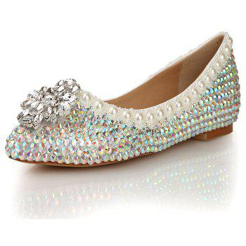 2018 New Colorful Diamond Flat Comfortable Shoes - COLOR 36