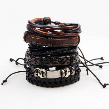 Leather Multilayer Beads Wrap Bracelets for Women