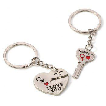 2 Love Key Buckles for New Lovers in Fashion - SILVER SINGLE CODE