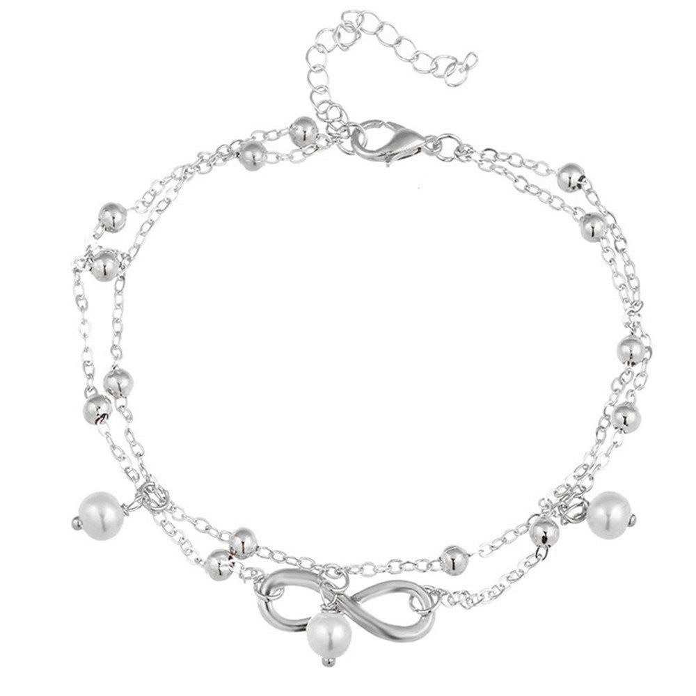 2018 fashion lady lucky number 8 pendant jewelry anklets silver in fashion lady lucky number 8 pendant jewelry anklets silver aloadofball Choice Image
