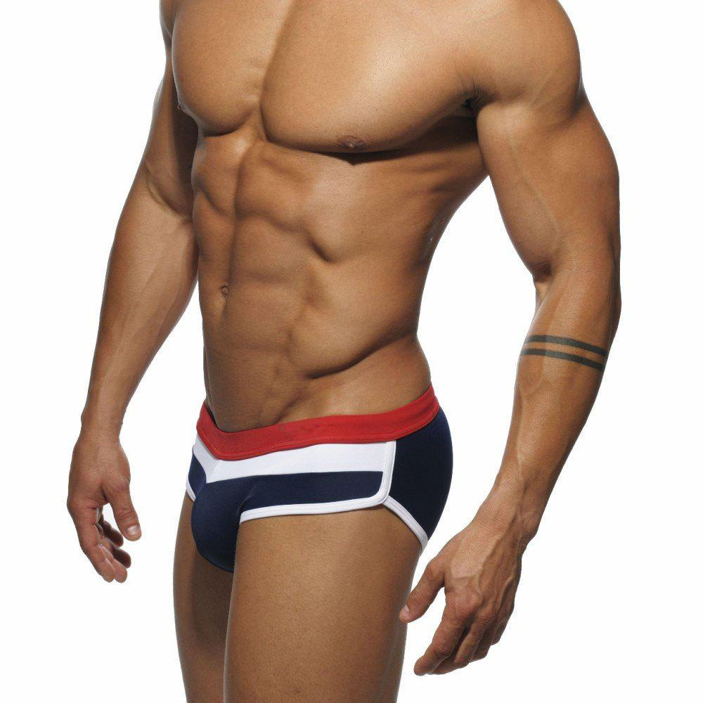 Men Thicker Triangle Swim Briefs - CERULEAN M