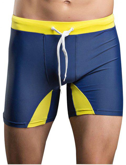 Men's Professional Tethered Swimming Trunks Beach Shorts - CERULEAN XL