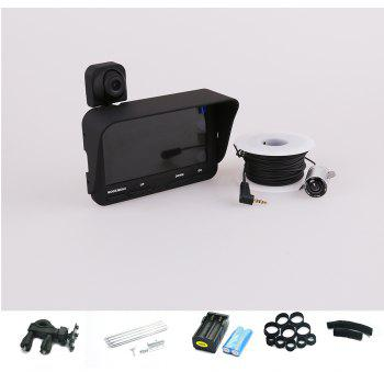 Professional Visible Video Fish Finder with LCD - BLACK