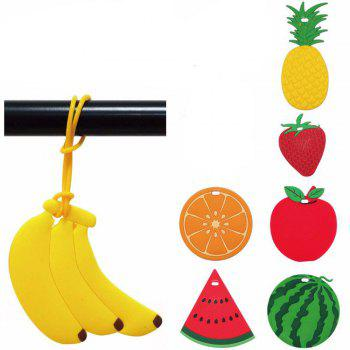 Travel Accessorie Cute Fruit Sign Suitcase Luggage Tag - YELLOW