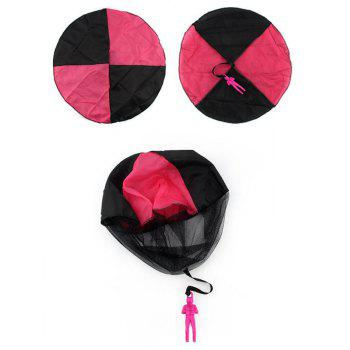 Kids Mini Parachute Outdoor Sports Children' Educational Toy Hand Throwing - ROSE RED