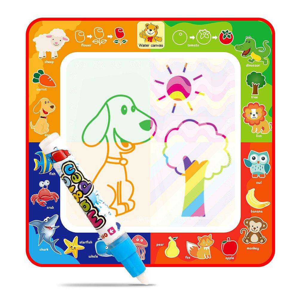Children Magic Water Animal Canvas Four Kinds of Colors Writing board Graffiti Educational Toys - COLORMIX