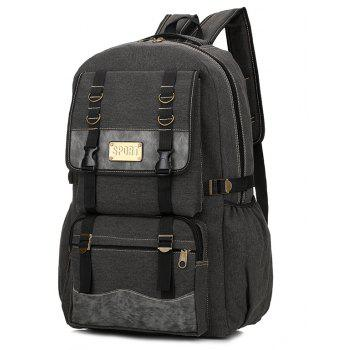 Men's Large-capacity Outdoor Mountaineering Bag Multi-functional Casual Bags - BLACK
