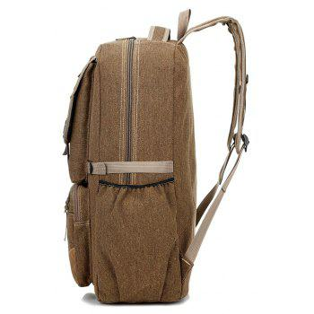 Men's Large-capacity Outdoor Mountaineering Bag Multi-functional Casual Bags - KHAKI