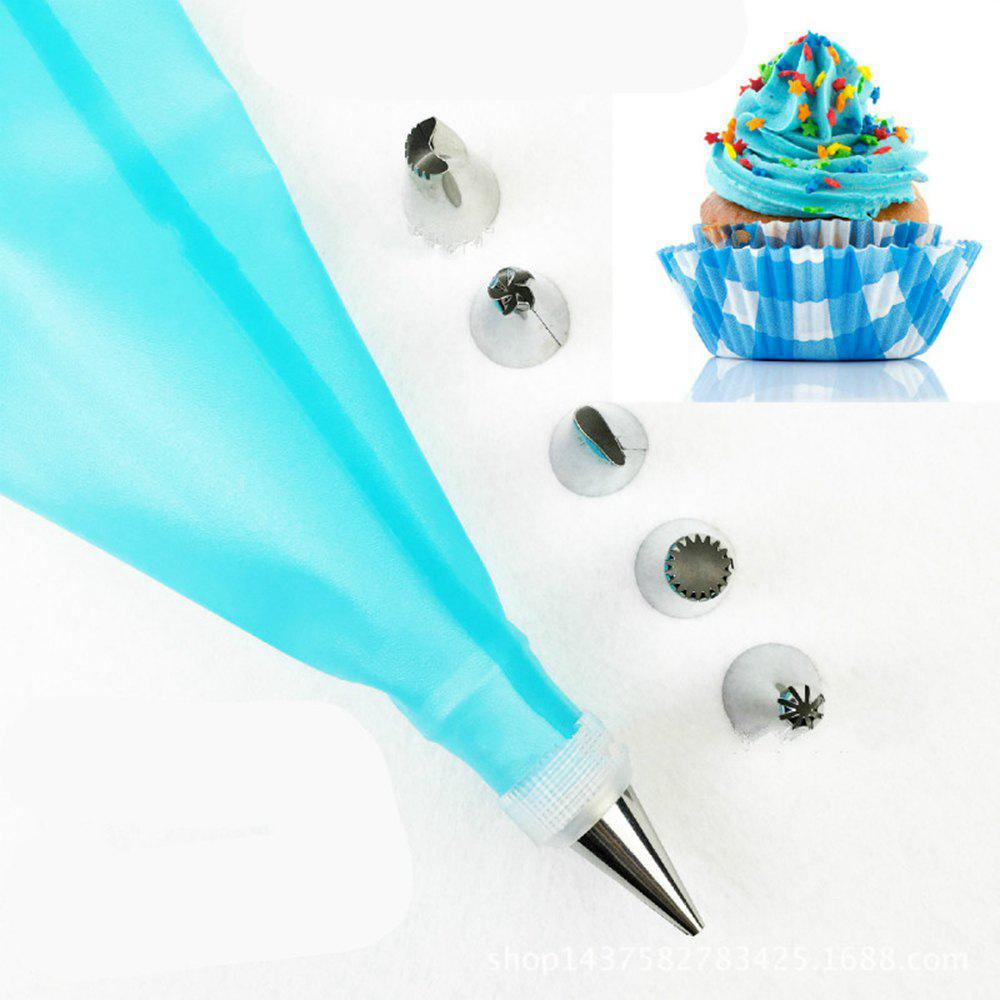 8Pcs Cake Decorating Supplie Kit Stainless Steel Icing Tip DIY Cupcake Cookie Baking Tool - BLUE