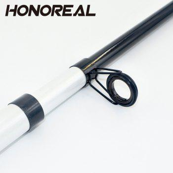 Portable Travel Boat Sea Telescopic Spinning Fishing Rod for Saltwater and Freshwater Fishing - WHITE 2.4M