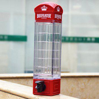 Telephone Booth Type Beer Pourer Bar Supplies Creative Wine Beverage Machine - RED 35X12.5X8CM
