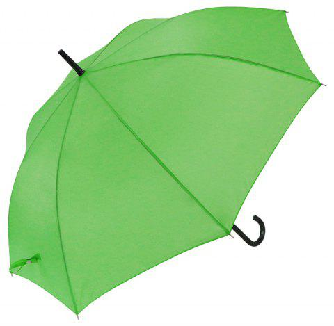 Auto Open Crook Weatherproof Walking Umbrella - GREEN