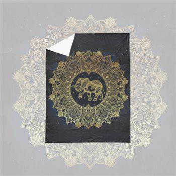Elephant Totem Series Three Pieces and Four Pieces Bedding Set of AS23 - BLACK GOLD QUEEN