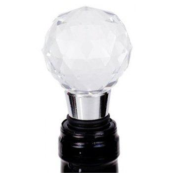 Wine Stopper Crystal Ball Red Wine Collection Stoppers Party Bar Tools - SILVER/BLACK