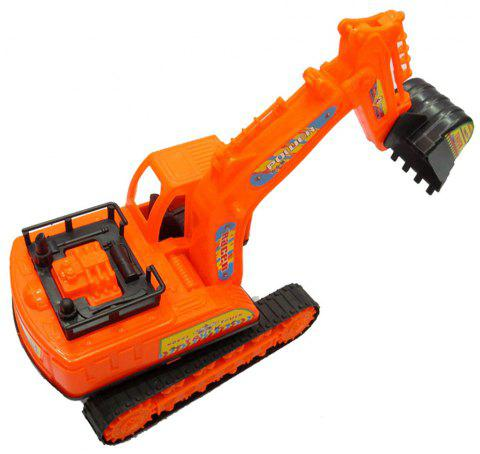 Large Construction Truck Toy Excavator - ORANGE