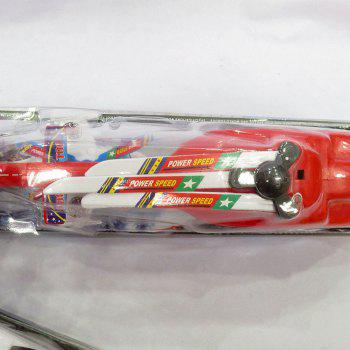 Helicopter + Small Plane Toy with Rotate Wings - RED