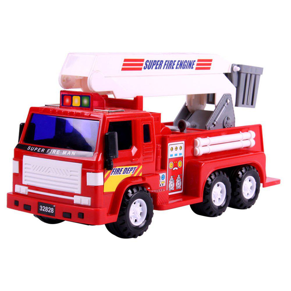 Children Toy Car Medium Inertia Taxiing Fire Truck Model Boy Gifts - RED
