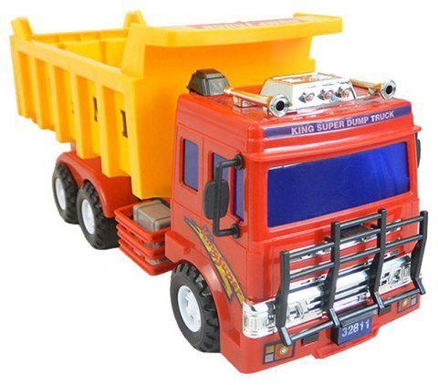 Children Toy Car Inertia Dump Plastic Model - RED