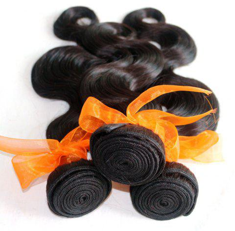 Body Wave 100 Percent Natural Color Indian Human Hair Weave 4pcs - NATURAL COLOR 16INCH*16INCH*16INCH*16INCH