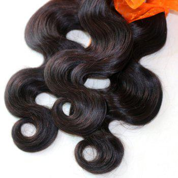 Body Wave 100 Percent Natural Color Indian Human Hair Weave 4pcs - NATURAL COLOR 16INCH*18INCH*20INCH*22INCH