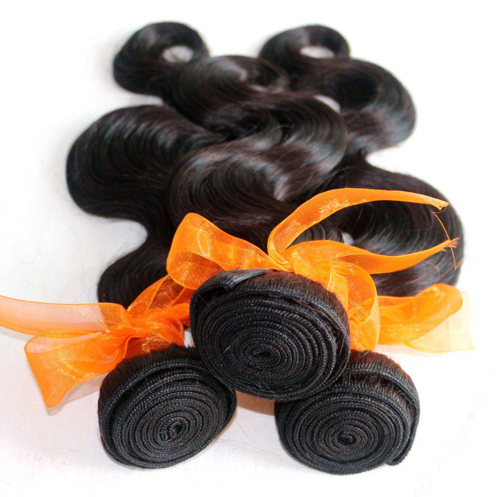Body Wave 100 Percent Natural Color Indian Human Hair Weave 4pcs - NATURAL COLOR 24INCH*24INCH*24INCH*24INCH