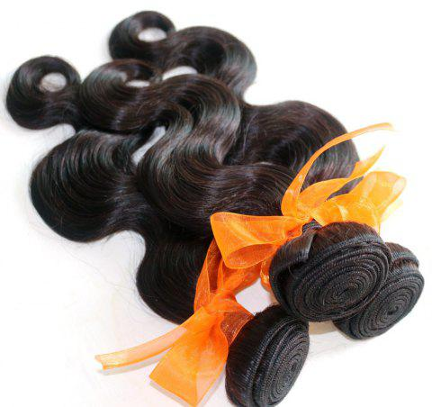 Body Wave 100 Percent Natural Color Indian Human Virgin Hair Weave 3pcs - NATURAL COLOR 12INCH*14INCH*16INCH