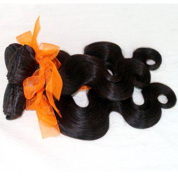 Body Wave 100 Percent Natural Color Indian Human Virgin Hair Weave 3pcs - NATURAL COLOR 16INCH*18INCH*20INCH