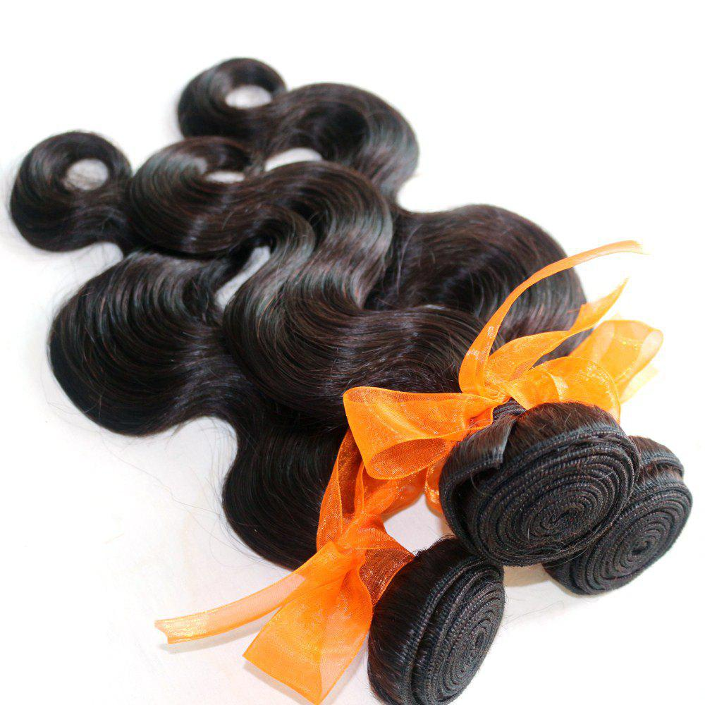 Body Wave 100 Percent Natural Color Indian Human Virgin Hair Weave 3pcs - NATURAL COLOR 12INCH*12INCH*12INCH