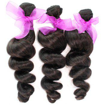 Loose Wave Natural Color 100 Percent Peruvian Human Hair Weave 1pc - NATURAL COLOR 18INCH