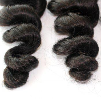 Loose Wave Natural Color 100 Percent Peruvian Human Hair Weave 1pc - NATURAL COLOR 10INCH